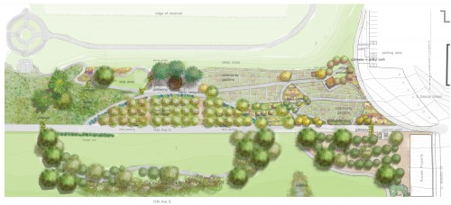 Plan of Food forest in Seattle, (c) harrison design